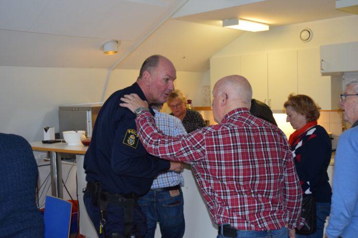 Vardagshjälten Christer Melvinsson vid en ärtsoppslunch hos Torslanda IK tidigare i år.
