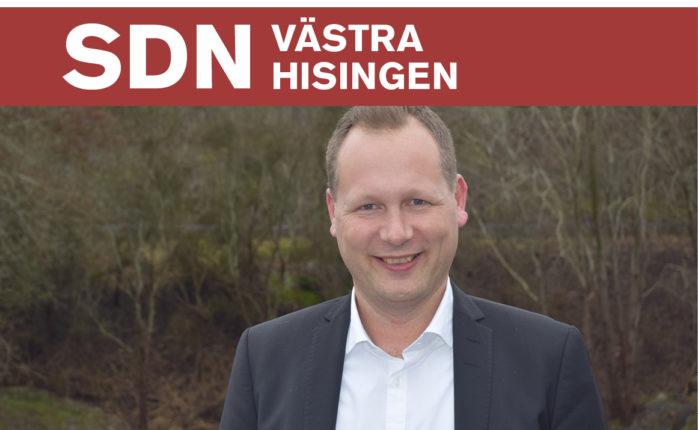 Rickard Eriksson (M) är ordförande i Västra Hisingens stadsdelsnämnd.