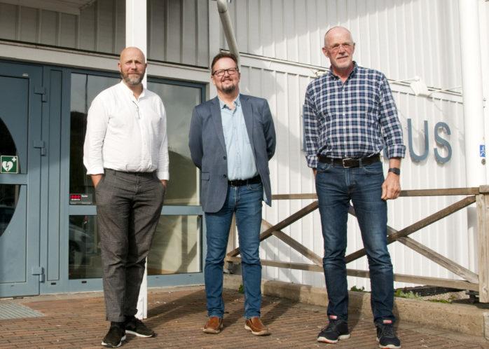 Jonathan Bergagård, Arto Niskala och Bosse Christoffersson deltog i presskonferensen om Projekt Mötas.