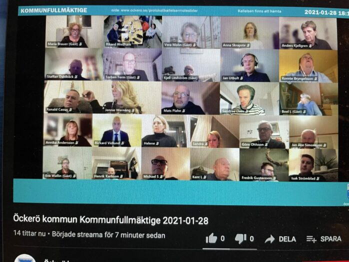 Sammanträdet i Öckerö kommunfullmäktige ägde rum via Teams och sändes som vanligt på kommunens egna YouTube-kanal.