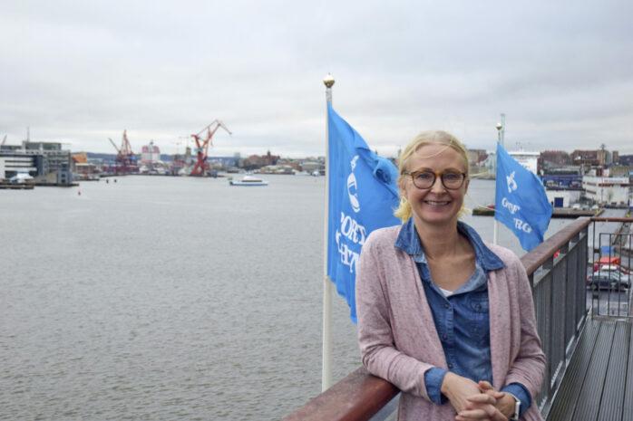 Göteborgs Hamn AB:s Kristina Bernstén menar att muddermassorna kan dumpas i djuphavshålor utan att det påverkar miljön negativt. Arkivbild från 2020